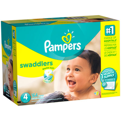 Premium Pampers Swaddlers Diapers Size 4 164 count