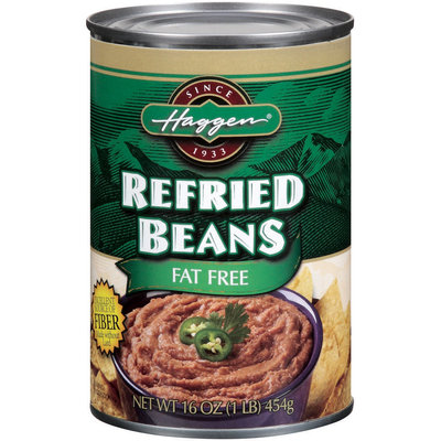 Haggen Fat Free Refried Beans 16 Oz Can