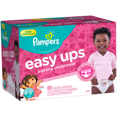 Pants Pampers Easy Ups Training Underwear Girls Size 6 4T-5T 86 Count
