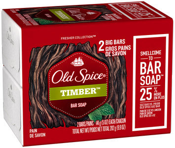Fresh Collection Old Spice Fresher Collection Timber Scent Men's Bar Soap 2 Bar 5 oz