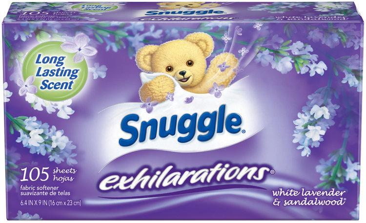 Snuggle® Exhilarations® White Lavender & Sandalwood® Fabric Softener Dryer Sheets 105 ct Box