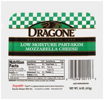 Dragone® Low Moisture Part-Skim Mozzarella Cheese 16 oz. Pack