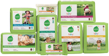 Seventh Generation Stages 1-6 Group W/Wipes Baby Diapers