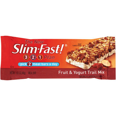 Slim-Fast 3-2-1 Meal Bars Fruit & Yogurt Trail Mix Meal Bar 1.62 Oz Wrapper