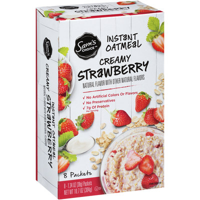Sam's Choice™ Creamy Vanilla Strawberry Instant Oatmeal 8-1.34 oz. Packets
