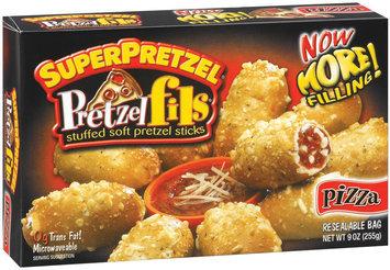 SuperPretzel Pizza Stuffed Soft Pretzel Sticks Pretzelfils 9 Oz Box
