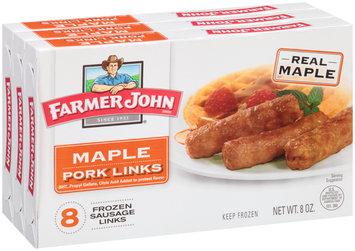 Farmer John® Maple Pork Links 3-8 oz. Boxes
