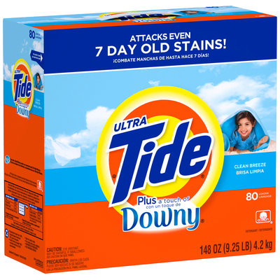 Tide Ultra Plus a Touch of Downy Clean Breeze Scent Powder Laundry Detergent 148 oz. Box