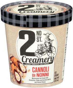2nd St. Creamery™ Cannoli di Nonni Ice Cream 1 pt. Cup
