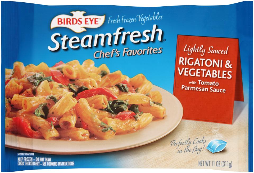 Birds Eye® Steamfresh® Chef's Favorites Lightly Sauced Rigatoni & Vegetables Fresh Frozen Vegetables 11 oz. Bag