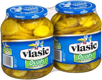 Vlasic® Ovals® Hamburger Dill Chips 2-32 fl. oz. Jars
