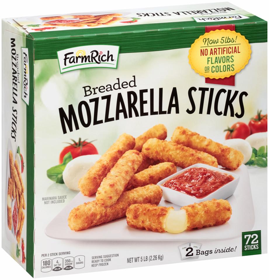 Farm Rich® Breaded Mozzarella Sticks 72 ct Box