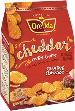 Ore-Ida® Creative Classics Cheddar Oven Chips Seasoned French Fried Potatoes 15 oz. Bag
