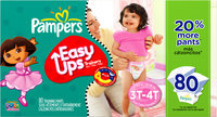 Pampers® Easy Ups Super Pack Girls Size 3T-4T Training Pants