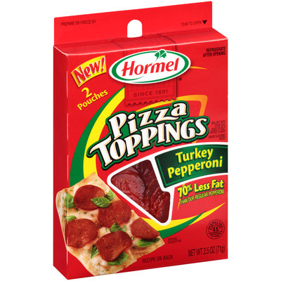 Hormel® Pizza Toppings Turkey Pepperoni 2.5 oz. Pack