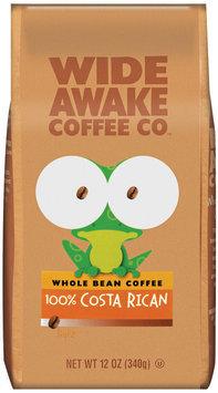 Wide Awake Coffee Company 100% Costa Rican Light Whole Bean Coffee 12 Oz Stand Up Bag