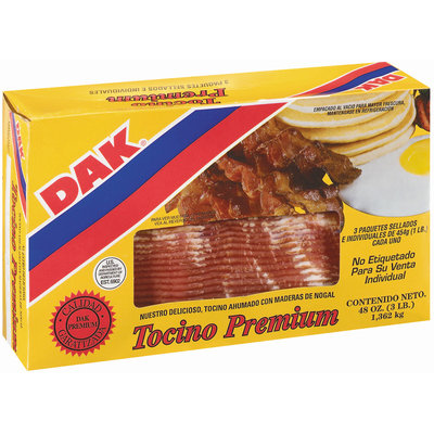 Dak Premium 3 Pk Bacon Tocino 3 Lb Box