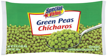 Special Value  Green Peas 32 Oz Bag