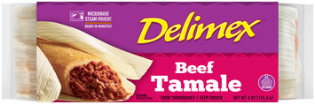 Delimex® Beef Tamale 4 oz. Wrapper