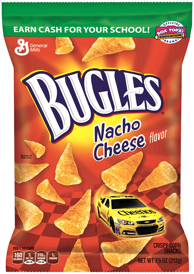 Bugles® Nacho Cheese Flavor Crispy Corn Snacks 7.5 oz. Bag