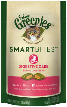 Feline Greenies® SMARTBITES™ Digestive Care Salmon Flavor Cat Treats 2.1 oz. Pouch