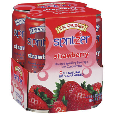 R.W. Knudsen Strawberry 10.5 Oz Spritzer 4 Ct Pack