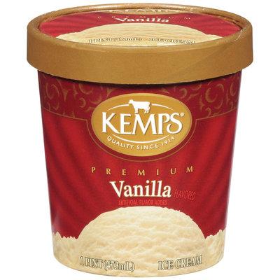 Kemps Premium Vanilla Ice Cream 1 Pt Carton