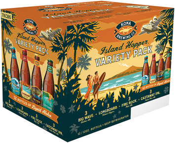 Kona Brewing Co.® Island Hopper® Variety Pack 12-12  fl. oz. Bottles