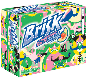 Brisk® Strawberry Melon Flavored Drink 12 Pack 12 fl. oz. Cans