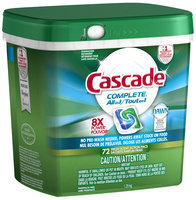 Cascade ActionPacs All-in-1 Lemon Burst Scent Dishwasher Detergent 72 ct Tub
