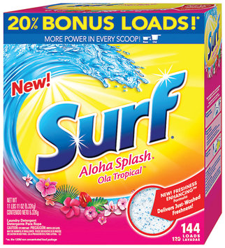 Surf Aloha Splash 144 Loads Laundry Detergent 187 Oz Box