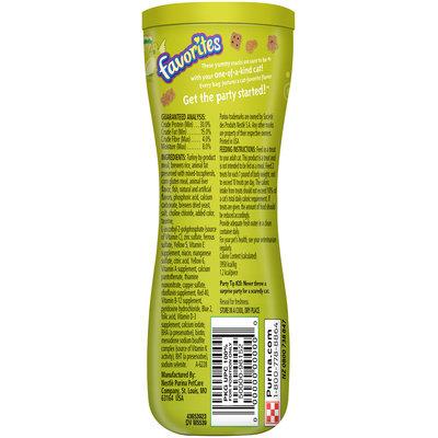 Purina Friskies Party Mix Favorites Terrific Turkey Flavor Cat Treats 4.5 oz. Canister