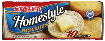 Stater Bros. Homestyle Biscuits 10 Ct Can