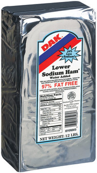 Dak Lower Sodium Ham 12 Lb Wrapper
