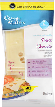 Weight Watchers® Natural Reduced Fat Swiss Cheese Slices 6.5 oz. Package