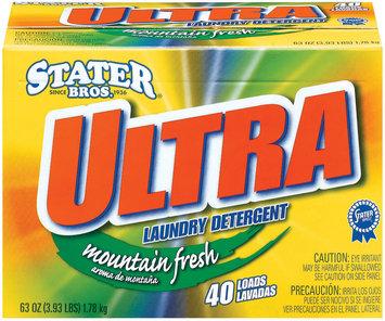 Stater Bros. Ultra Mountain Fresh 40 Loads Laundry Detergent 63 Oz Box