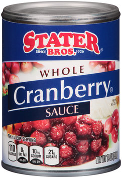 Stater Bros.® Whole Cranberry Sauce 14 oz. Can