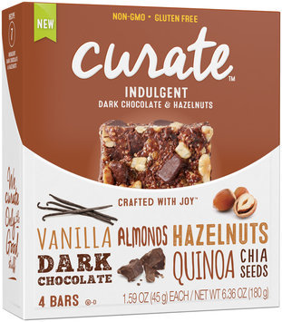 Curate™ Indulgent Snack Bars 4-1.59 oz. Packs