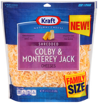 Kraft Shredded Colby & Monterey Jack Cheese 24 oz. Pouch