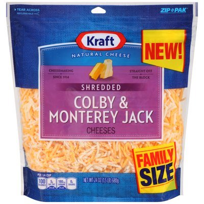 Kraft Shredded Colby & Monterey Jack Cheese 24 oz. Pouch