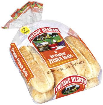 Cottage Hearth French Sesame 6 Ct Rolls 17 Oz Bag