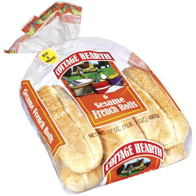 Cottage Hearth French Sesame 6 Ct Rolls 17 Oz Bag