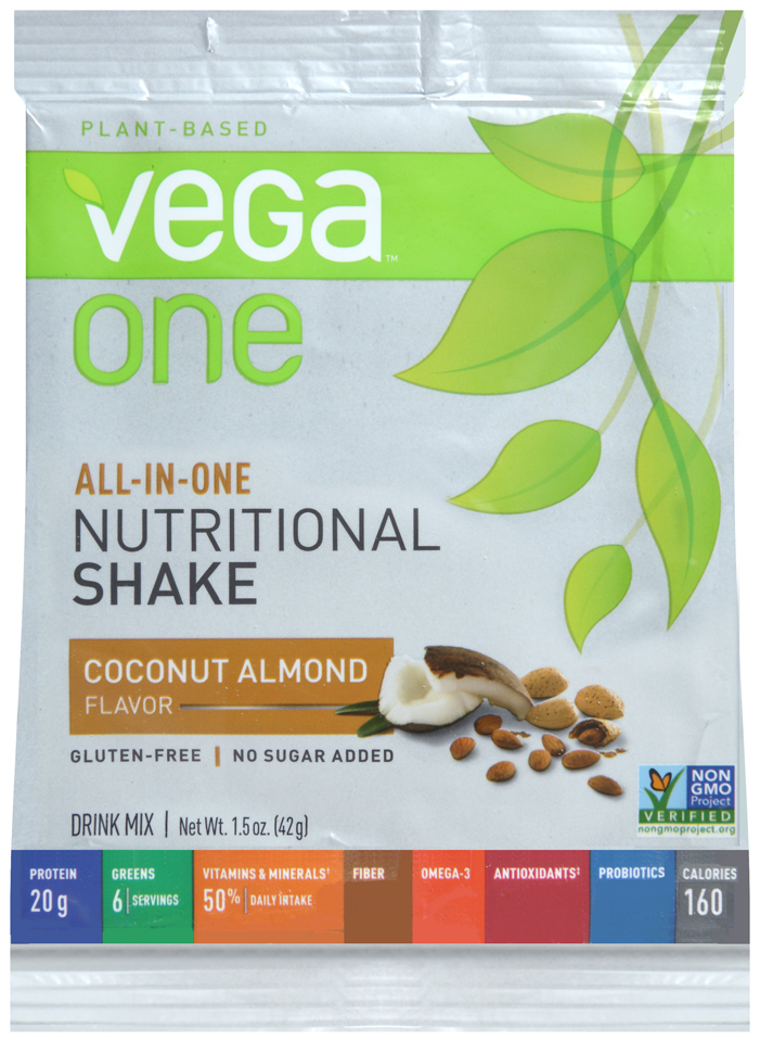 Vega™ One Plant-Based Coconut Almond Flavor Nutritional Shake Drink Mix 1.4 oz. Packet