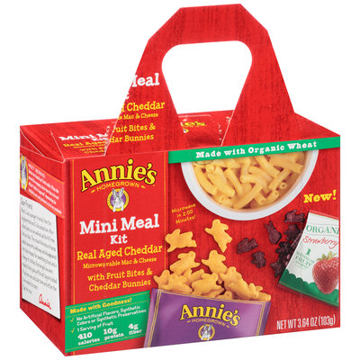 Annie's®  Homegrown Real Aged Cheddar Mac & Cheese Mini Meal Kit