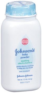 Johnson's® Pure Cornstarch W/ Aloe & Vitamin E Baby Powder 1.5 Oz Shaker