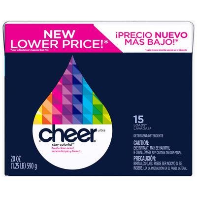 Cheer Fresh Clean Scent Powder Laundry Detergent 20 oz. Box