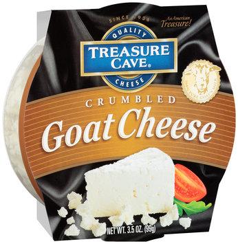 Treasure Cave® Crumbled Goat Cheese 3.5 oz. Plastic Tub