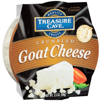 Treasure Cave® Crumbled Goat Cheese 3.5 oz. Plastic Tub