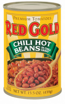 Red Gold Hot In Chili Gravy Chili Beans 15.5 Oz Can