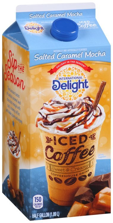 International Delight Salted Caramel Mocha Iced Coffee 0.5 gal. Carton